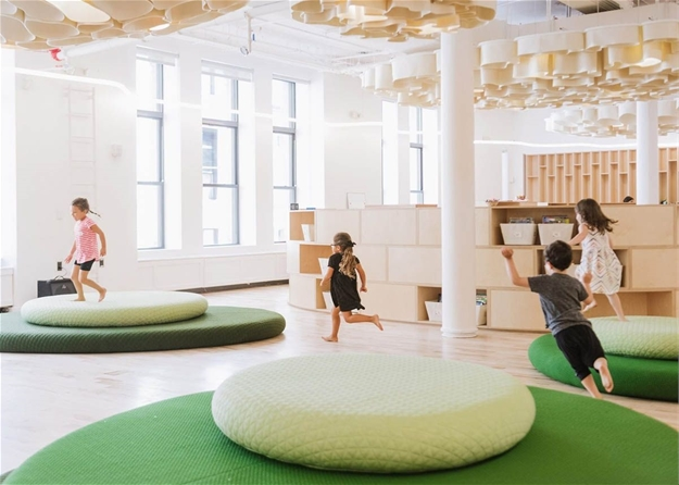 Big completes WeWork's first micro-school with super-elliptic objects in New York City