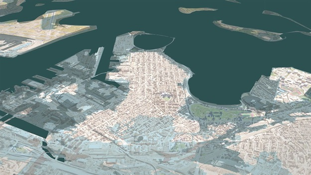 South Boston would also be severely affected if sea levels are to rise 40 inches during a rare storm. All Images © SCAPE