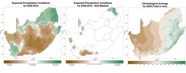 Seasonal climate watch for July to September 2019. Date issued: 28 June 2019. South African Weather Service