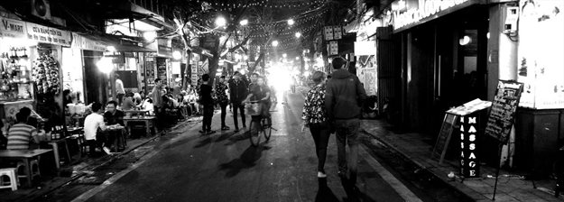 Hanoi streets become the living rooms of the city at night, filled with vibrancy and light. Photo Credit: Patrick McInerney