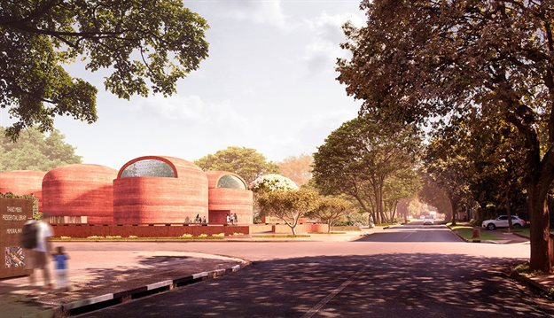 Intersection between North and Main Avenue. All images and video courtesy of Adjaye Associates