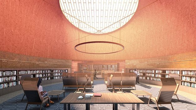 Reading Room. All images and video courtesy of Adjaye Associates