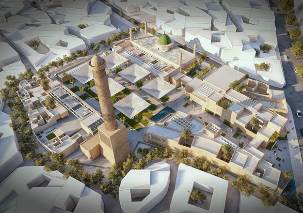 Winning proposal: Courtyards Dialogue. Image © Salah El Din Samir Hareedy & team